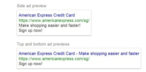 American Express Google Adwords